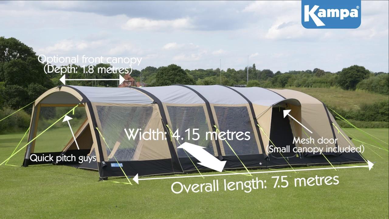 K&a Croyde 6 Classic AIR Pro Tent & Kampa Croyde 6 Classic AIR Pro Tent - YouTube
