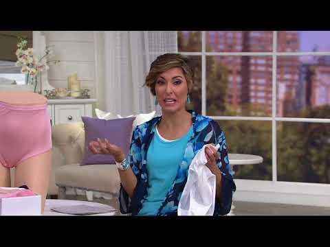 2ce5ffb1727d21 Breezies 100% Nylon Full Brief Panties Set of 4 on QVC - YouTube