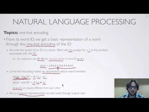 Neural networks [10.3] : Natural language processing - one-hot encoding