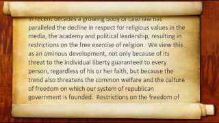 Manhattan Declaration (Audio-Text) - Part 6 of 6, Religious Liberty