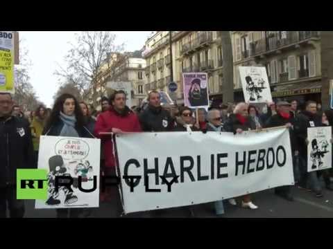 France: See surviving Charlie Hebdo editorial team rally in Paris