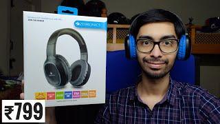 Zebronics ZEB THUNDER Wireless Headphones unboxing amp Review Best Budget Bluetooth Headphones