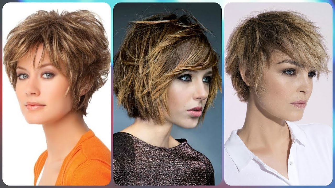 7f97e54b8 Top 20 💫 modelli di taglio di capelli scalato corto - YouTube