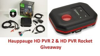 Hauppauge HD PVR 2 & HD PVR Rocket Giveaway