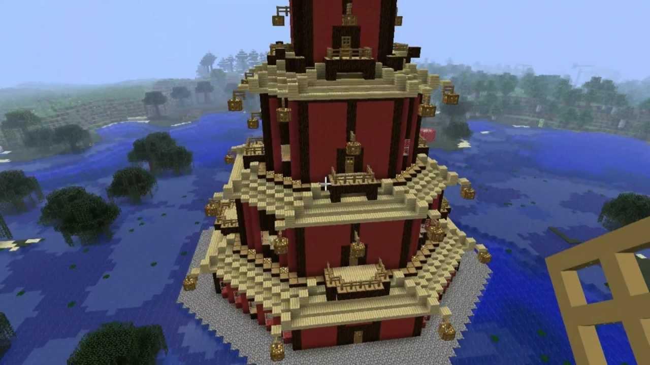 Lets Build Minecraft Episode Pagoda Chinesischer Tempel Part - Minecraft japanische hauser bauen