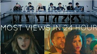 Top 30 Most Viewed Music Videos In First