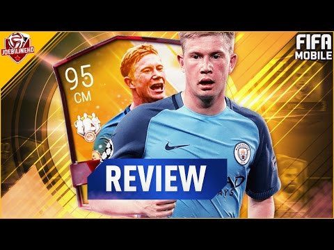 FIFA MOBILE TOTW MASTER 95 IF CM DE BRUYNE REVIEW #FIFAMOBILE 95 TOTW MASTER DE BRUYNE PLAYER REVIEW