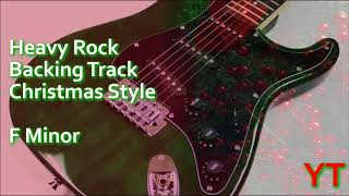Heavy Rock Christmas Backing Track F Minor