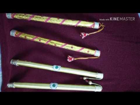 Dandiya sticks tutorial with paper (two designs) by Apna Sahara Khud bano