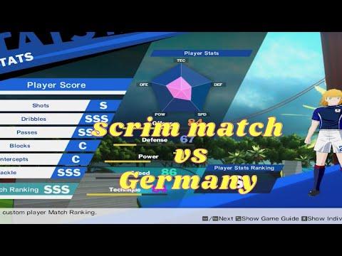 Match rank SSS scrim match vs Germany   Captain Tsubasa Rise of New Champions ver 1.10.1  