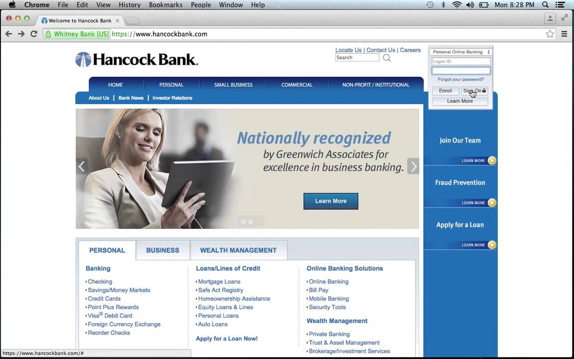 hancock bank online banking login Hancock Bank Online Banking Login Instructions - YouTube