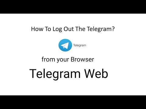 How to Signout from Telegram Web   Logout from Telegram Web