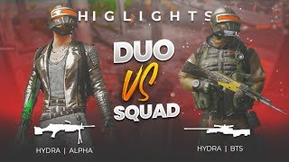 H¥DRA | Alpha & H¥DRA | BTS (DUO VS SQUAD) || Entertainment + Gameplay - PUBG MOBILE HIGHLIGHTS!