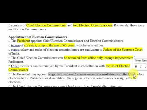 Indian Polity : Election Commission  by Sunil Singh