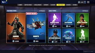 NEW SHOGUN SKIN AND BLADED WINGS BACKBLING IN FORTNITE