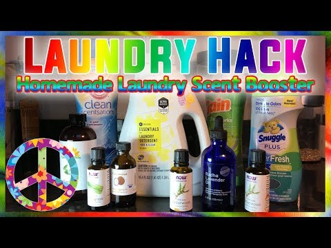 Laundry Hack - Homemade Laundry Scent Booster Using Essential Oils