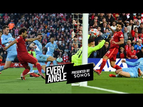Every angle of Mo Salah's stunning solo goal against Manchester City