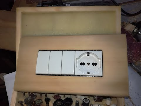 Switch wall plate homemade