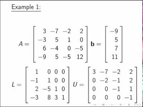 Solving a System of Equations Using an LU Factorization