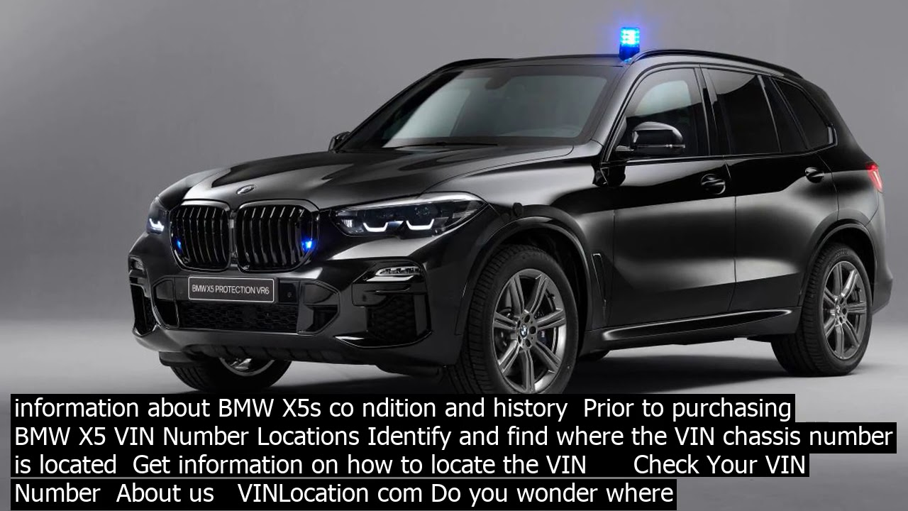 Check Vin Bmw X This Is The Bmw Vin Decoder Every Bmw Car Has A Unique Identifier Code C Youtube