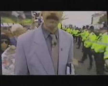 Borat Fox Hunt Protest