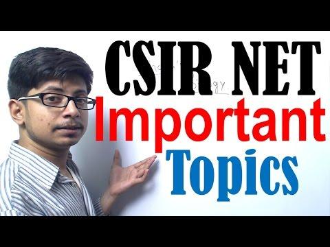 CSIR NET life science most important topics | CSIR NET exam preparation
