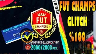 FIFA 20 FUT CHAMPS QUALIFICATION GLITCH + DIVISION RIVALS RANK 1 GLITCH *tested* not clickbait*