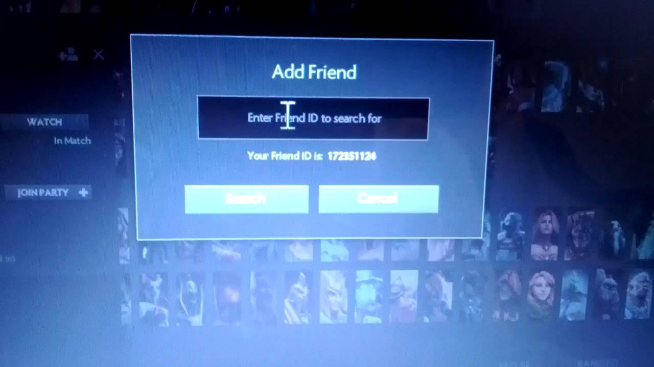 dota 2 reborn how to add a friend player