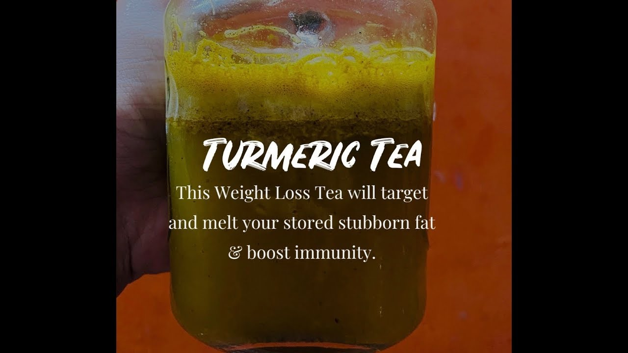 Turmeric tea for weight loss & boosting immunity