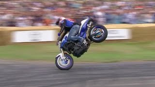 Unbelievable Mattie Griffin stunt-riding at #FOS - just takes it a bit too far...