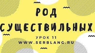 Сербский язык. Урок 11. Род существительных
