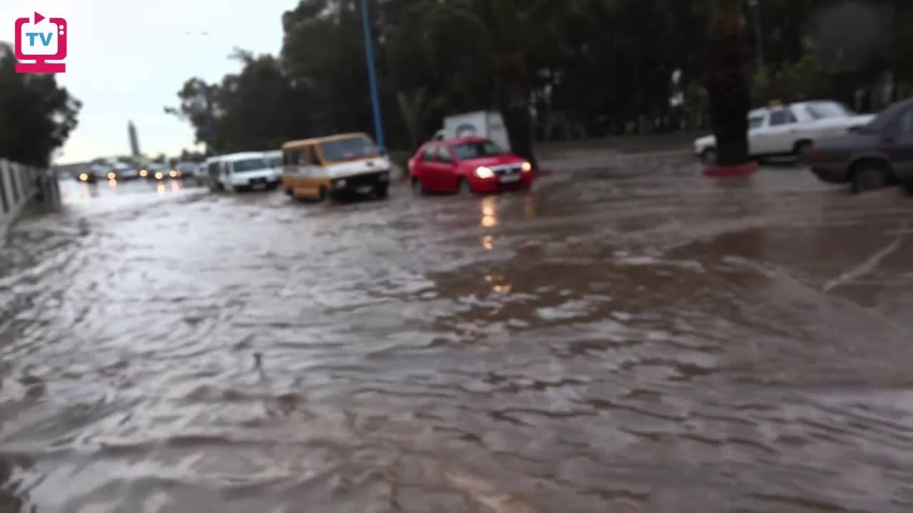 من عين المكان.. فيضانات في الدار البيضاء - YouTube