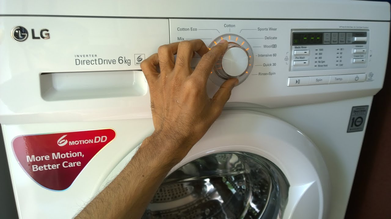 LG Washing Machine Installation - DIY - YouTube