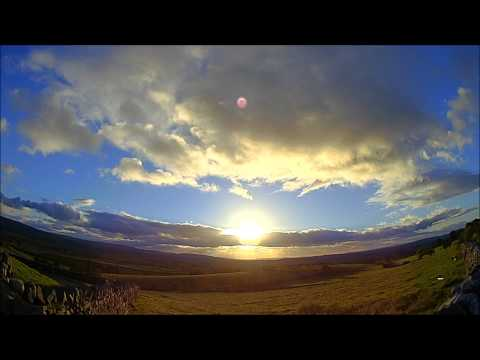 Allotment Diary : Dusk Clouds and Sunset around my plot Time lapse photography