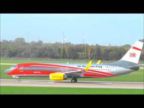 TUIfly (Deutsche Bahn livery) Boeing 737-8K5 D-ATUC Düsseldorf International Airport