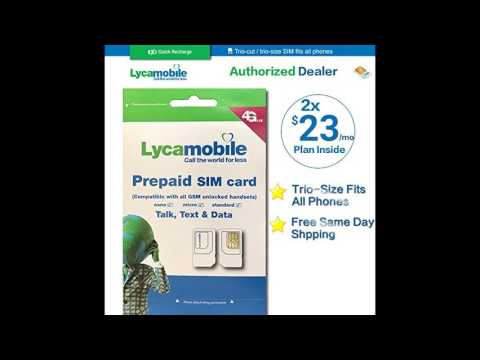 Lycamobile sim card 23 for 2 months Plan with Unlimited talk text and Data