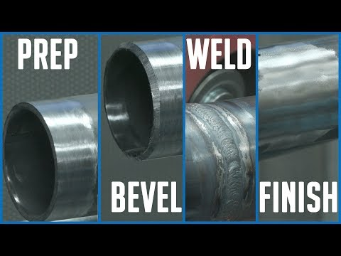 "🔥 2"" Steel Tube: PREP - BEVEL - WELD - FINISH (at Pferd USA)"