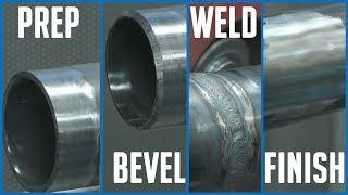 """🔥 2"""" Steel Tube: PREP - BEVEL - WELD - FINISH (at Pferd USA)"""