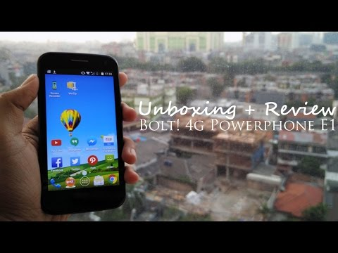 Unboxing + Review BOLT! 4G Powerphone E1