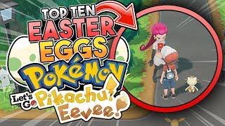 10 Easter Eggs YOU MISSED In Pokemon Let's Go Pikachu & Let's Go Eevee
