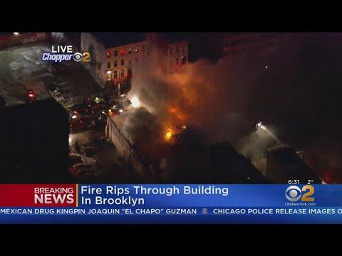 Firefighters Battle Brooklyn Blaze