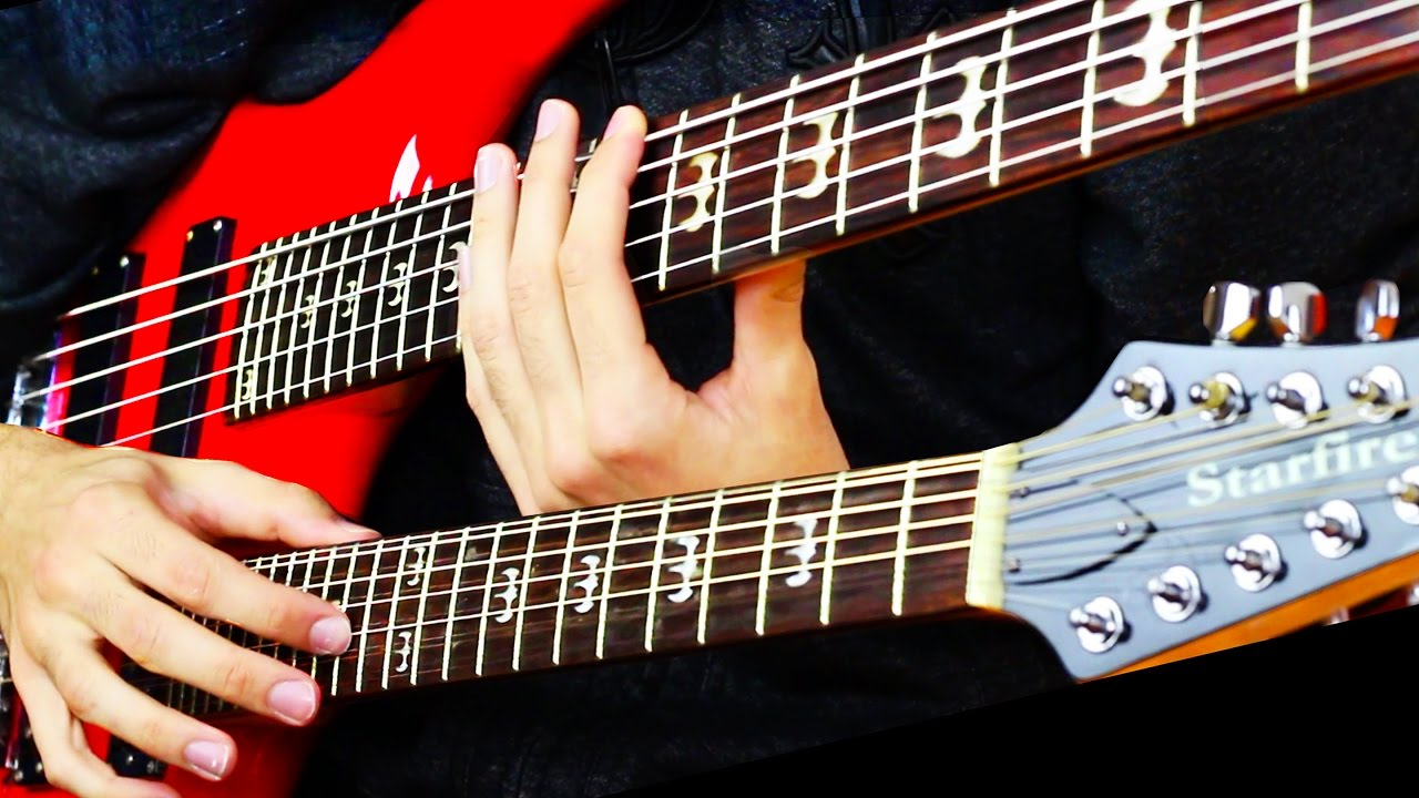 double neck bass guitar solo youtube. Black Bedroom Furniture Sets. Home Design Ideas
