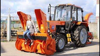 Обзор трактора МТЗ-82. Беларус со снегоуборщиком и измельчителем веток