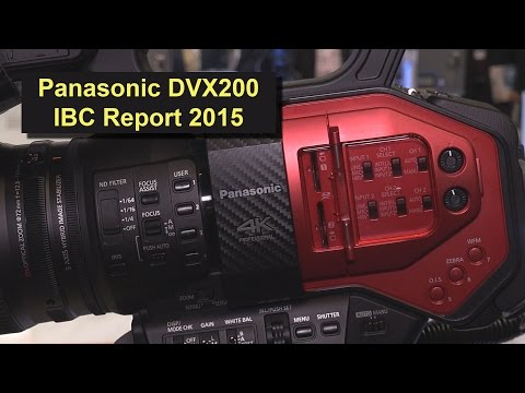 Panasonic AG-DVX200 4K Camcorder (ibc Report 2015 in 4K)