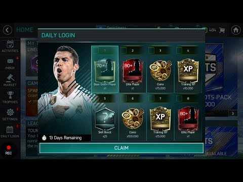 FIFA MOBILE  DAILY LOGIN FEATURE !! EVERYTHING EXPLAINED!! AMAZING REWARDS UPCOMING!!