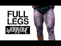 LEG DAY : MY WORKOUT FOR BIG LEGS , for men and women !