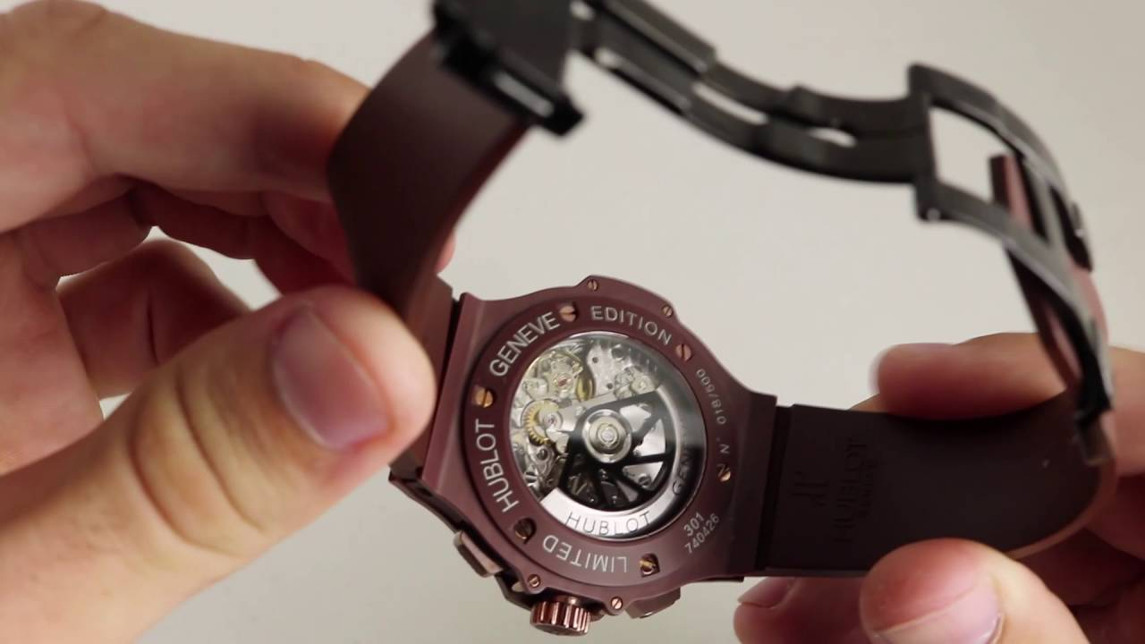 Pre-Owned Hublot Big Bang Chocolate Ceramic Limited Edition Luxury Watch