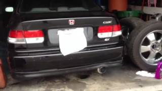 honda civic ek 5zigen exhaust