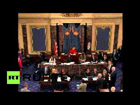USA: Native activists sing in senate as Keystone vote fails