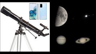 90mm 천체망원경과 갤럭시 S20+를 이용해서 촬영한…